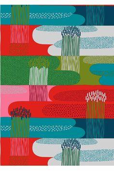 Marimekko fabrics - Buy online from Finnish Design Shop. Discover Unikko and other Marimekko fabrics for a modern home! Motifs Textiles, Textile Prints, Textile Patterns, Lino Prints, Block Prints, Surface Pattern Design, Pattern Art, Marimekko Fabric, Art Graphique