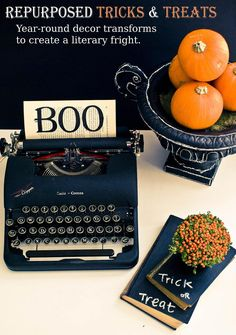 This could go under Vintage Halloween OR Craft Ideas...I might just do this to my antique type writer.