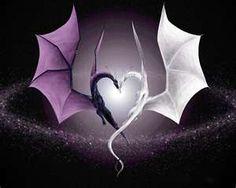 heart, backgrounds, dragon, fairi, a tattoo, desktop wallpapers, light, black, home made