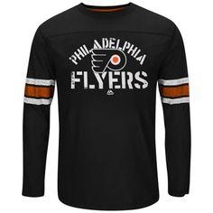 eb93a4b32 Mens Philadelphia Flyers Majestic Orange Big   Tall Corner Blitz Fashion  Long Sleeve T-Shirt