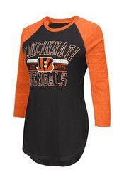Cincinnati Womens Hang Time Black T-Shirt