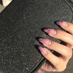 Mysterious Gradient Nails – Page 2 of 7 – Vida Joven - Acrylic nails Nails Polish, Aycrlic Nails, Gradient Nails, Hair And Nails, Stiletto Nails, Glitter Nails, Galaxy Nails, Almond Acrylic Nails, Best Acrylic Nails