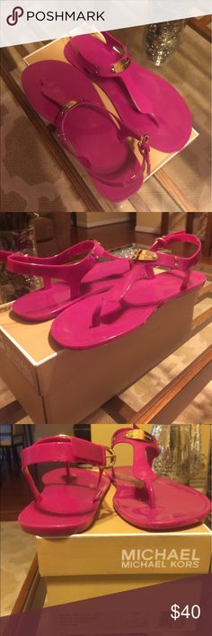Pink Michael Kors Jellies New pink MK jellies size 10 Michael Kors Shoes Sandals