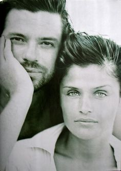 Michael Hutchence & Helena Christensen by Peter Lindbergh 1994