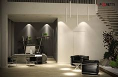 Office project: Studio in stile in stile Moderno di P3dretti Office Interior Design, Office Interiors, Cute Room Decor, Waiting Area, Study Office, Table, Reception, Group, Furniture