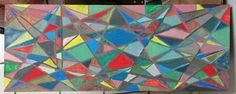 """""""Stained Crass"""" by Charles Peter Watson, 9"""" X 23.5"""" acrylic paint on wood $50"""