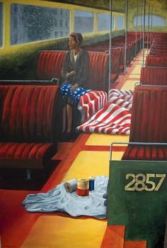 "Saatchi Online Artist: H Kemp; Acrylic, Painting ""Montgomery"""