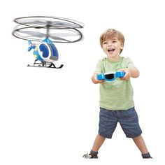 My First Flyer is perfect for the budding aviators in your life! With a simple one-touch remote, protective propeller rings and auto-hover technology, this RC helicopter is great for first flyers looking to start their aerial adventures. Add in fun lights, sounds and cool design, My First Flyer is ideal for little ones looking to play out their high-flying dreams!