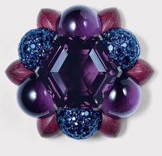 Hemmerle - amethysts, sapphires in white gold, silver and wood