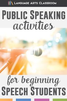 Speech activities for beginning public speaking students.