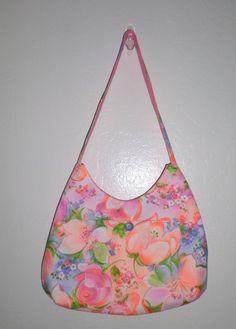 Handmade Phoebe Bag Bright Colorful Flowers by Merrysewingnfabric, $25.00