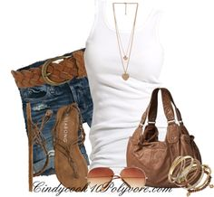 """Shorts and Tank"" by cindycook10 on Polyvore"