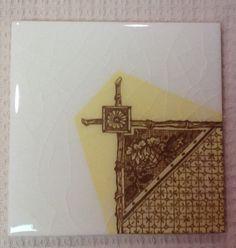 design by david b. kelly. bamboo trellis field tile with border ... - Weie Fliesen Bordre
