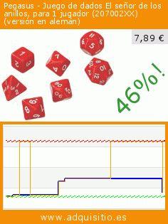 Pegasus - Juego de dados El señor de los anillos, para 1 jugador (207002XX) (versión en alemán) (Juguete). Baja 46%! Precio actual 7,89 €, el precio anterior fue de 14,53 €. https://www.adquisitio.es/pegasus/juego-dados-se%C3%B1or-anillos