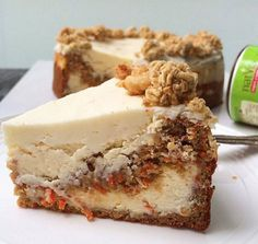 SKINNY CARROT CAKE SWIRL CHEESECAKE Recipe by http://www.misskkitchencreations.com/ INGREDIENTS CARROT CAKE 1/2 c wholewheat pastry flour 1/2 c vanilla protein powder (can substitute with wholewheat pastry flour) 1/2 c almond meal…