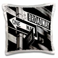 3dRose Broadway, Pillow Case, 16 by 16-inch