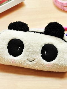 cute plush baby panda pencil case