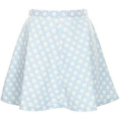 TOPSHOP MOTO Bleach Spot Denim Skirt