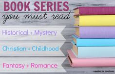 If love reading then this post is for you. A list of book series you must read including historical fiction, mystery, Christian fiction, childhood favorites, fantasy and some romance. Great book recommendations, lists, and suggestions!