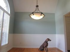"My favorite paint color - Sherwin Williams ""Quietude""  Love it with white accents."