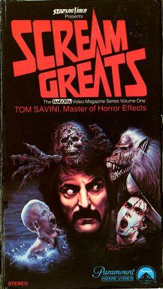 Scream Greats Vol. Tom Savini, Master of… Horror Movies Funny, Classic Horror Movies, Horror Movie Posters, Horror Films, Scary Movies, Horror Icons, Sci Fi Horror, Arte Horror, Scream