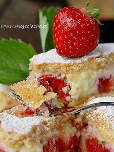 Odjazdowe ciasto truskawkowe | MOJE CIACHO Ale, Cheesecake, Strawberry, Food And Drink, Cooking Recipes, Baking, Fruit, Marcel, Sodas