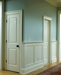 craftsman style wainscoting | favored this general style, with a little less overhang at the top