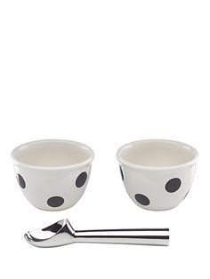 here's the scoop: this sweet three-piece set will turn even a simple dessert into a stylish experience, and makes a perfect housewarming present.
