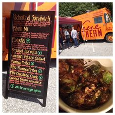 Neue Southern Food Truck (North Main Area of downtown Greenville, SC)  No one will have to convince you to eat these Brussel sprouts!