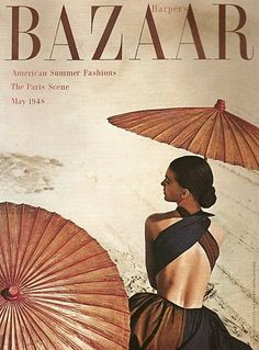 Harper's Bazaar 1945...oh the back of that dress! #vintage #1940s #vintageglam