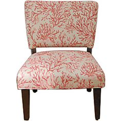 @Overstock - Floral Fabric Gigi Accent Chair. Update your home decor with this attractive accent chair. This furniture features solid wood and fabric construction for durability.http://www.overstock.com/Home-Garden/Floral-Fabric-Gigi-Accent-Chair/6452656/product.html?CID=214117 $134.99