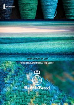 From Ian Lawson's From the Land Comes the Cloth: Harris Tweed.