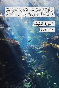 Say (O Muhammad SAW to mankind) ;If the sea were ink for (writing) the Words of my Lord,surely,the sea would be exhausted before the Words of my Lord would be finished,even if we brought (another sea) like it for its aid 18:109