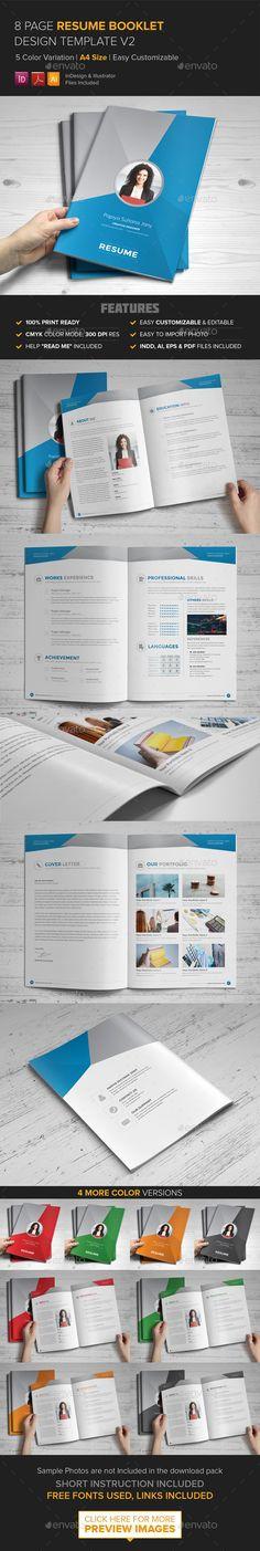 Resume Booklet Design (InDesign) v2