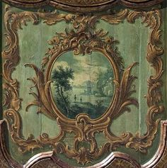 Cartouche door panel