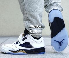 4f99dec49620 Air Jordan 5 Low Dunk From Above Color White Metallic Gold Star-Midnight