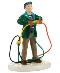 Department 56 Collectible Figurines, Snow Village National Lampoon's Christmas Vacation Fire It Up Dad