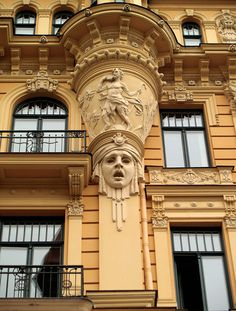 [Building in Riga]   I admire it, but I do fear somewhat that the whole building might trundle off and threaten to eat someone...