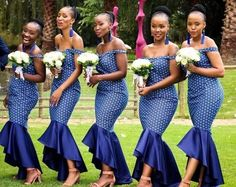 South African Traditional Dresses 2019 - style you 7 African Print Wedding Dress, African Bridesmaid Dresses, African Wedding Attire, African Print Dresses, African Attire, African Fashion Dresses, African Dress, African Wear, Sepedi Traditional Dresses