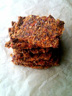 Passionately Raw! - Spicy raw sun dried carrot flax tomato crackers