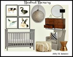 Eat. Sleep. Decorate.: Neutral Nursery #3- Guest Post {Abby M. Interiors}