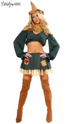 Sexy Scarecrow Costume, Scare Crow Halloween Costume, Wizard of Oz Scarecrow Costume