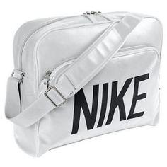 79746e8caf50 Nike Heritage SI Track Retro BA4358 White Black Unisex Shoulder Bag Nike  Shoulder Bag