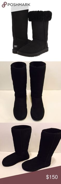 UGGS Classic II boot WORN ONCE Only worn for a vacation once and never worn again since I live in Miami ! There's no box and only a little bit of worn for the black color as you can see via the pictures shown above how much great condition they are in NO TRADES ❌❌NO LOW BALLERS these are Authentic ! reasonable offers only and no negotiations in the comments. Thank you ! ☺️👍 UGG Shoes Winter & Rain Boots