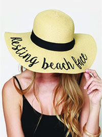 Resting Beach Face sun hat from Momma Needs A Drink Boutique.  Message me to order or click the link!