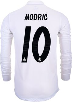 58cf68e545a adidas Luka Modric Real Madrid Home Authentic L S Jersey 2018-19