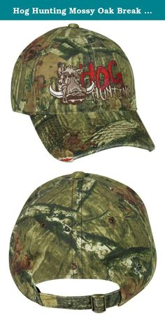 Hog Hunting Mossy Oak Break Up Infinity Camo Hunting Hat. Mossy Oak Hog Hunting Hat,Great Looking Hat For Hunting Hogs,Pigs, Or Wild Boar Low Crown UnStructured Cotton/Polyester Twill Pre-curved Frayed Visor Adjustable Tuck Strap with Slide Closure Heavy