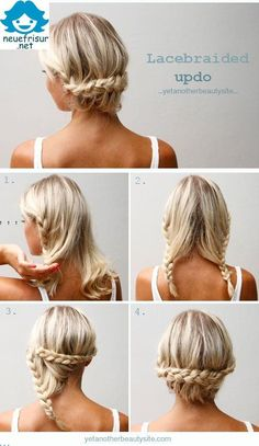 Lacebraided Updo Hair Styles
