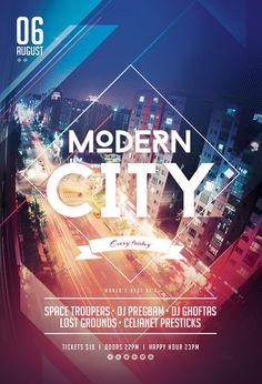Modern City Flyer by styleWish (Download PSD file)