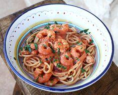Italian Food Forever » Spaghetti with Shrimp In Creamy Tomato Sauce